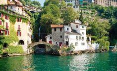 Nesso,  un pequeño pueblo italiano  a orillas del lago de Como en la región de Lombardia