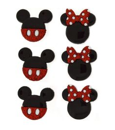 Dress It Up Licensed Embellishments- Disney Mickey & Minnie Mickey E Minnie Mouse, Disney Mickey, Mickey Party, M Craft, Craft Projects, Disney Winnie The Pooh, Joanns Fabric And Crafts, Disney Trips, Happy Planner