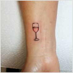 11 Wine Tattoos That'll Make You Wind Down With A Glass - Page 3 of 31 - Find Tattoos Online Girly Tattoos, Mini Tattoos, Subtle Tattoos, Body Art Tattoos, Small Tattoos, Sexy Tattoos, Tatoos, Minimalist Tattoo Meaning, Minimalist Tattoos