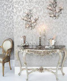 Gorgeous Silver interior home deco