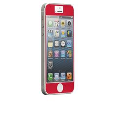 CaseMate Zero Bubbles Screen Protector for iPhone 5 in Red