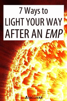 An EMP event could render flashlights useless - so here's what you can use instead to light your way. #EMP #survival #SHTF #preppers Emergency Preparedness Food Storage, Power Outage, Survival Tips, Shtf, Lighting, Lights, Lightning