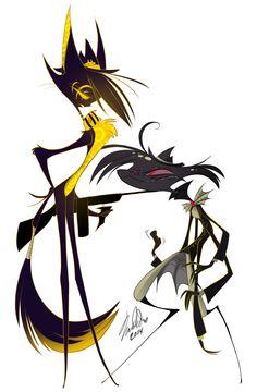 A commission of Salem and Arackniss by Vivziepop. #Zoophobia #Vivzmind
