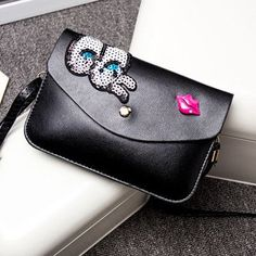 Casual Small Cartoon Eyes Handbags High Quality Ladies Party Purse Fashion Women Clutch Famous Shoulder Messenger Crossbody Bag