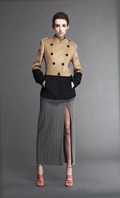 Jyune Color Blocked Military Jacket - 695 USD    Cityblis - Be Unique