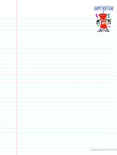 New Years Ruled Paper