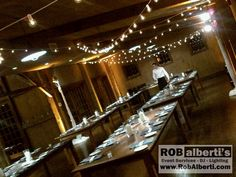 long rustic table