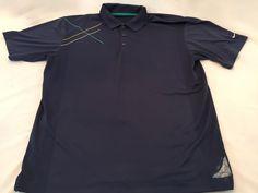 Nike Golf Nike Dri Fit Golf Polo Men's Short Sleeve Blue Shirt Sz XL Extra Large | eBay