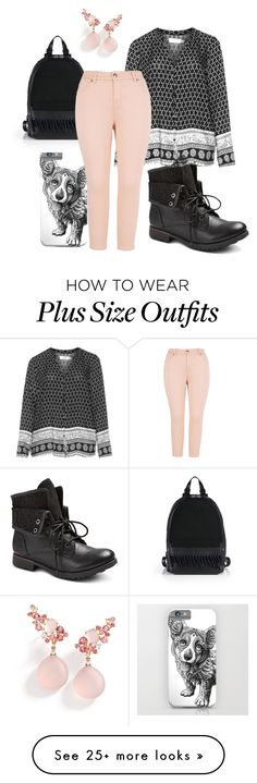 """plus size corgi"" by aleger-1 on Polyvore featuring 3.1 Phillip Lim, Zizzi, Melissa McCarthy Seven7, Brumani and plus size clothing"
