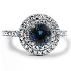 Sapphire Double-Halo Diamond Adorned Ring from Brilliant Earth