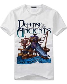 White kunkka t shirt for men game DOTA 2 hero tee plus size - Dota 2 T Shirt, Dota2 Heroes, Man Games, Tee Shirts, Tees, Plus Size, T Shirts For Women, Shorts, Casual