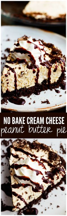This No Bake Cream Cheese Peanut Butter Pie is one of the easiest and BEST pies that you will make!