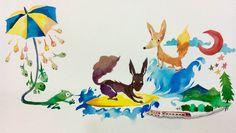 蝌蚪、海浪、紅月亮 / Wolf + Fox / 2015