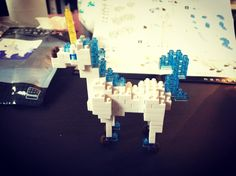« New friend  #nanoblock #unicorn #homemade #whiteandblue »