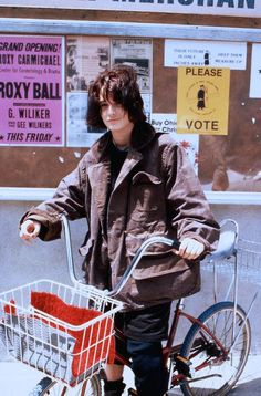 winona ryder... Love the oversized men's jacket
