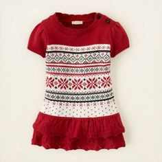 oooo.... now we're getting somewhere. Snowflake sweater dress. Children's place $26.95