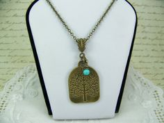 Tree of Life Necklace Antique Brass Tree by CreatedinTheWoods, $19.95