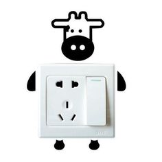 Cute Colorful Cartoon Animal Wall Switch Stickers for Kids Room