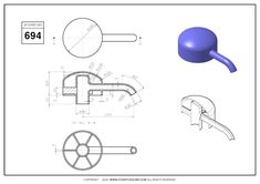 3D CAD EXERCISES 694 - STUDYCADCAM Mechanical Engineering Design, Mechanical Design, Cad Drawing, Drawing Poses, Autocad Isometric Drawing, Solidworks Tutorial, Unity 3d, 3d Tutorial, Drawing Practice