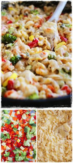 Spicy Roasted Vegetable Macaroni and Cheese. --This was pretty good!! I liked all of the veggies in it. You might need to add some milk when you reheat it if you have any leftovers.
