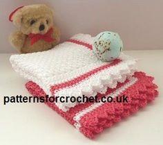 Free baby crochet pattern baby wash cloth usa