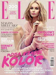 Magdalena Mielcarz - Elle Magazine Cover [Poland] (May V Magazine, Fashion Magazine Cover, Glamour Magazine, Fashion Cover, Magazine Cover Design, Magazine Covers, Top Models, Vanity Fair, Vogue