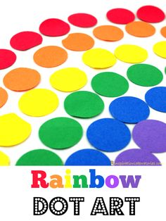 Rainbow Dot Art