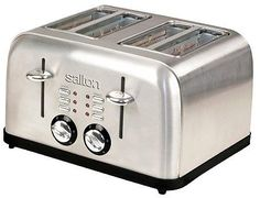Salton Electronic Stainless Steel 4-Slice Toaster: Target has this Salton Electronic Stainless Steel 4-Slice Toaster,… #coupons #discounts
