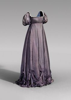 Afternoon Dress: ca. late 18th century-early 1800's, silk. Belonged to Queen Consort Luise of Prussia.