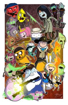 Hora de Aventuras + The Walking Dead.  Amazing!!!!!  Via @Ms_Mythical en nuestro Twitter @Amara Novalbos