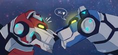 VLD fanart - Red and Blue Lions Boop!