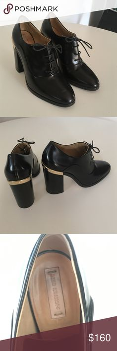 Reed Krakoff Oxford booties Perfect condition Reed Krakoff black booties with gold detailing on heel. Reed Krakoff Shoes Ankle Boots & Booties