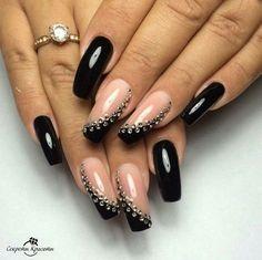 32 Gorgeous Looks for Matte Short Nails; matte nails for fall;easy designs for short nails. Fancy Nails, Bling Nails, Trendy Nails, My Nails, Dark Nail Designs, Nail Art Designs, Nails Design, Fabulous Nails, Gorgeous Nails