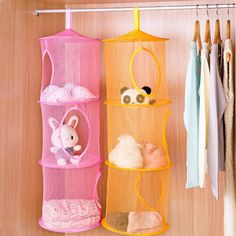 3 Shelf Hanging Storage Net Organizer Bag Bedroom Door Wall Closet Organizers  V1NF