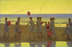 Thomas Cooper Gotch - The Sand Bar
