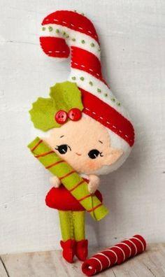 Pin by Jessica on DIY_crafts Christmas Projects, Felt Crafts, Holiday Crafts, Diy Crafts, Felt Christmas Ornaments, Noel Christmas, Felt Decorations, Christmas Sewing, Felt Diy