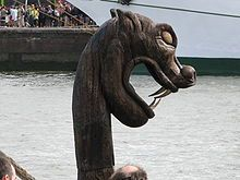 Port de Rouen - figure de proue d'un Drakkar à l'Armada de Rouen 2008