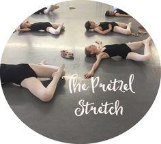 "Get yourself into a ""Pretzel"" and improve your turnout, dancers! via Accidental Artist Dance Teacher, Dance Class, Dancer Stretches, Splits Stretches, Adult Ballet Class, Dance Technique, Dance Training, Dance Tips, Dance Moves"