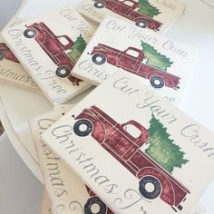 Wood Sign-Christmas tree in the bed of a Vintage Truck by Little Bits of Everything inc. Shop