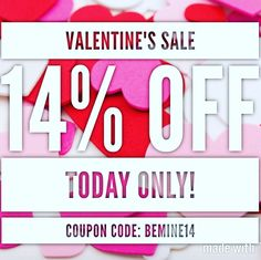 TODAY ONLY  Use the code: BEMINE14 For 14% off your order!