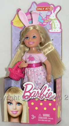 NEW 2013 Barbie Sister Kelly Easter Chelsea Blonde Doll #Mattel