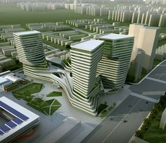 Shanghai International Design Center, Yangpu, China I designed by Milanese office AM Progetti and Shanghai's TJAD (Tongji Architectual Design Institute),