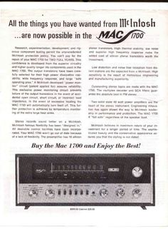 Vintage audio McIntosh 1700 Hi Fi Stereo