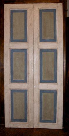 Riproduzione di una porta di fine \'700 realizzata in abete di patina ...