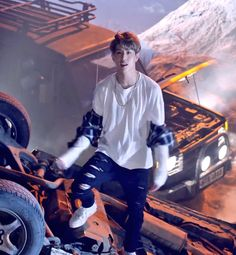 Mark in New album 'HARD CARRY' 160926 #HardCarry #Flightlog #Turbulence #GOT7 #Mark #Marktuan