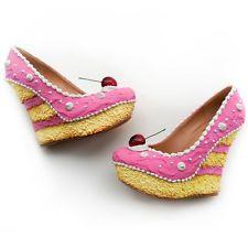 Pin Up ShoeBakery Schuhe im Torten-Look Pink Cake Wedges