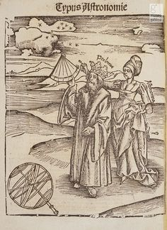Astrology, Magic and Alchemy - Depiction of Astronomy with Ptolemy, Margarita philosophica nova..., 1515.