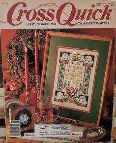 HALLOWEEN BUNNIES HOLIDAY Cross Quick Cross Stitch Magazine - Oct-Nov 1989 - OOP…