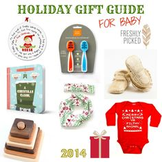 Holiday gift guide for baby - the BEST gift ideas for a baby or toddler, these would be perfect for baby's first Christmas. Plus there is a GIVEAWAY to win it all - almost $200 worth of products! Click through to enter!
