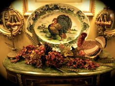 Last month I was fortunate enough to be interviewed and featured in Romantic Homes magazines in regards to turkey transferware . Vintage Thanksgiving, Thanksgiving Table Settings, Thanksgiving Turkey, Thanksgiving Decorations, Fall Decorations, Happy Thanksgiving, Turkey Plates, Turkey Dishes, Turkey History